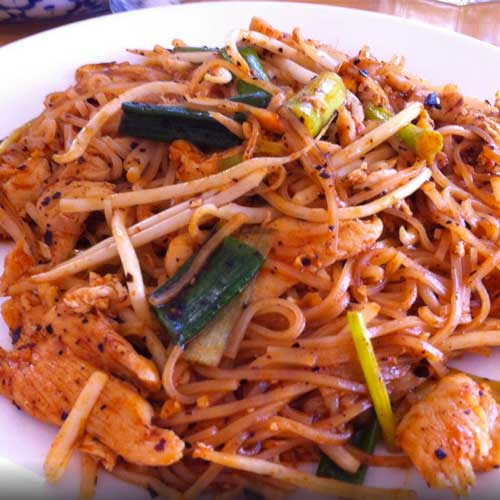 Pad Thai, a favorite lunch specialty
