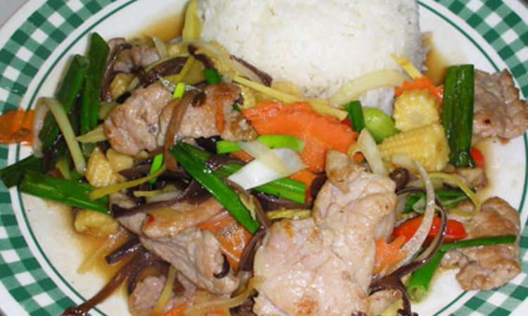 Sauté Ginger over Rice