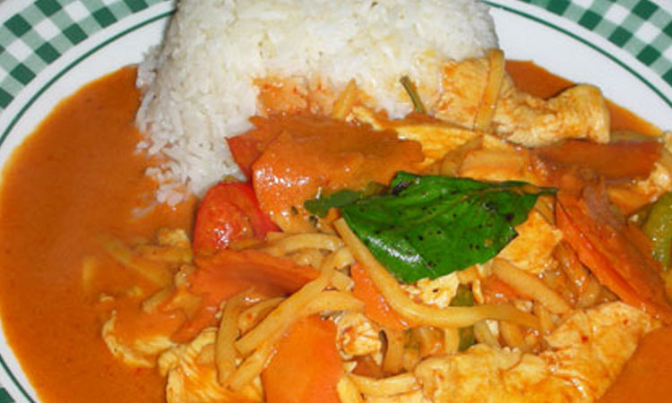 Red Curry over Rice