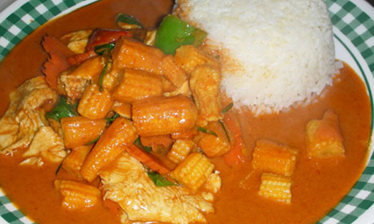 Panang Curry over Rice
