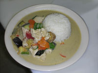 Green Curry over Rice